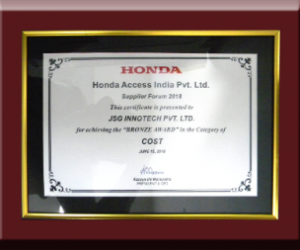 JSG Honda award
